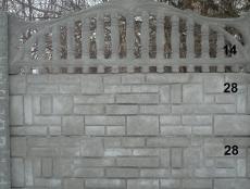 Евро бетонный забор 1